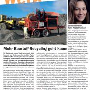 Mehr Baustoff-Recycling geht kaum