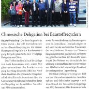 Chinesische Delegation informiert sich über Recycling
