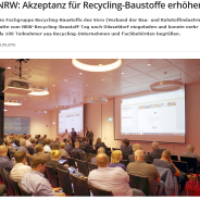 NRW Recycling-Baustoff Tag mit großer Resonanz