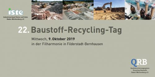 22. Baustoff-Recycling-Tag am 09.10.2019 in der Filharmonie in Filderstadt