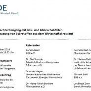"""BRB/BDE Kongress """"Fachgerechter Umgang mit Bau- und Abbruchabfällen – Ausschleusung von Störstoffen aus dem Wirtschaftskreislauf"""" am 5. Dezember 2019 in Berlin"""