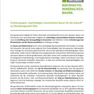 Für eine klimaneutrale Zukunft: NACHHALTIG. MINERALISCH. BAUEN.  – Gemeinsames Positionspapier des Netzwerkes NACHHALTIG. MINERALISCH. BAUEN.